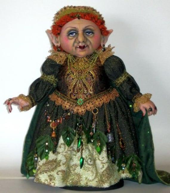AB514E - Troll Queen PDF, Cloth Doll Pattern