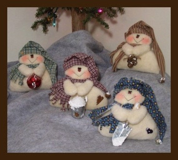 RP165E - Frosty Flakes PDF Download Sewing Pattern, Snowmen