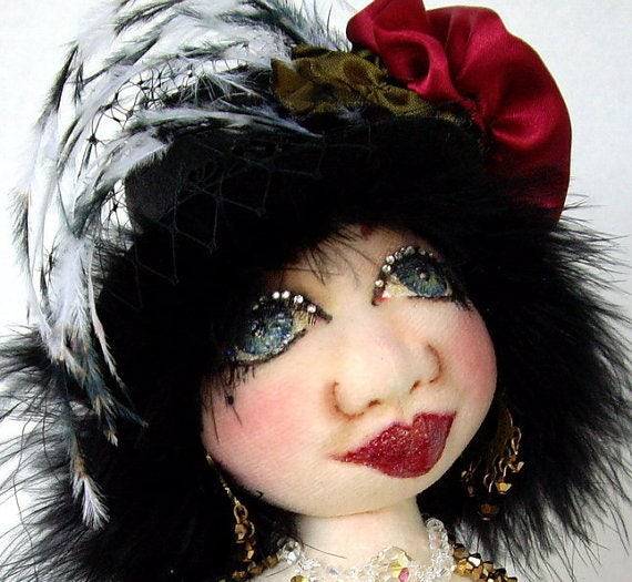 CE710E –  Caroline, The Showgirl Diva – PDF Cloth Doll Pattern