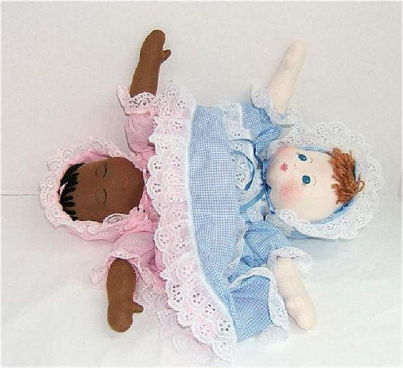 Judi Ward Original Design - TOPSY TURVY ~ Cloth Baby Doll Making E-Pattern  - Download Sewing Pattern