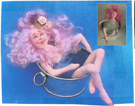 KK770E – Bathtub Beauties - Sleep's or Soak'n - Cloth Doll Making Sewing Pattern, PDF Download