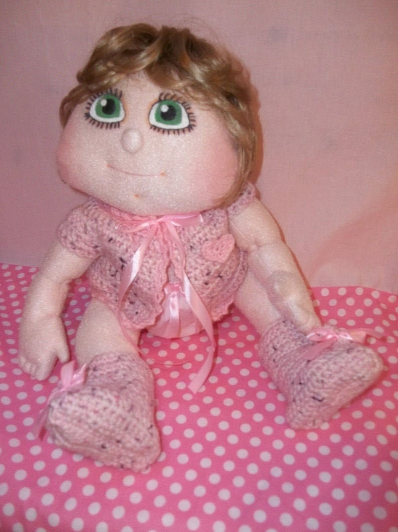 Soft Cloth Doll Sara Sewing Tutorial and Pattern in Italian  image 0