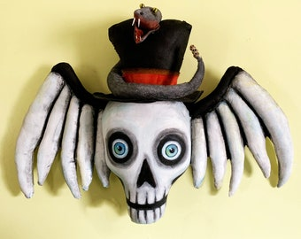 """New!  Skully – 12"""" by 20"""" Painted Fabric Door Art, Sewing Pattern  -  Cloth Doll PDF Instant Download  - SE917"""