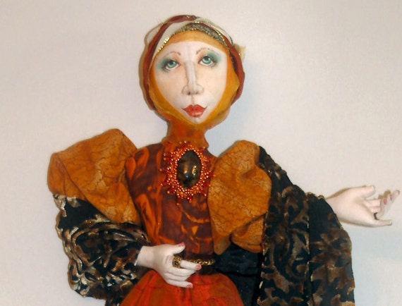 JS411E - Lady Grace PDF Cloth Doll Download Pattern by Judy Skeel