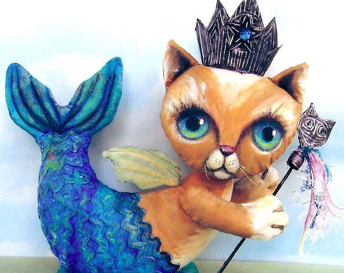 SE701 - Catfish Fairy Dolls Pattern,  Sewing Cloth Doll Pattern - PDF Download by Susan Barmore