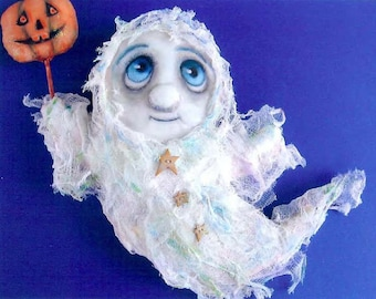 """SE438 - Jasper, 13"""" Ghost Fabric Doll Pattern,  Sewing Cloth Doll Pattern - PDF Download by Susan Barmore"""