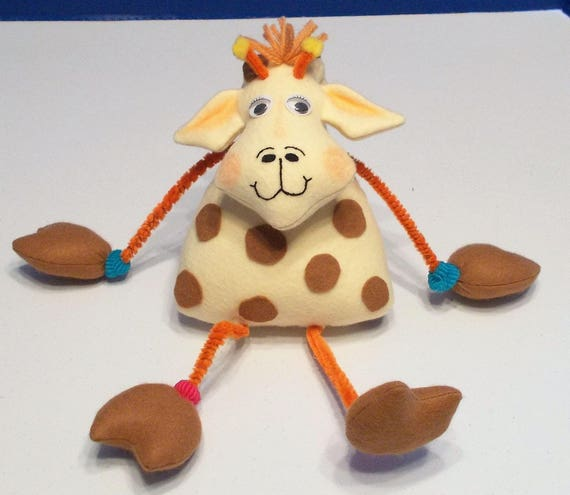 Gerald Giraffe  - A Bent Neck Giraffe Soft Doll Animal Sewing Pattern – PDF Download Doll Making Pattern