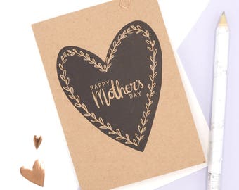 Mother's Day Card // Happy Mothers Day Card // Mothers Day Note Card // A6 Greetings Card // Sweet Mother's Day Card