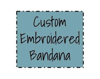 CUSTOM Dog Bandana, Embroidered Dog Bandana, Personalized Dog Bandana, Lettered Bandana, Dog Collar Bandana, Cat Bandana, Dog Gift, Cat Gift