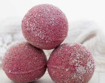 Cranberry Bath Bomb - Red Bath Bomb - Purple Bath Bomb -  Gifts For Her- Glitter Bath Bomb- Shower Fizzy- Bath Fizzy