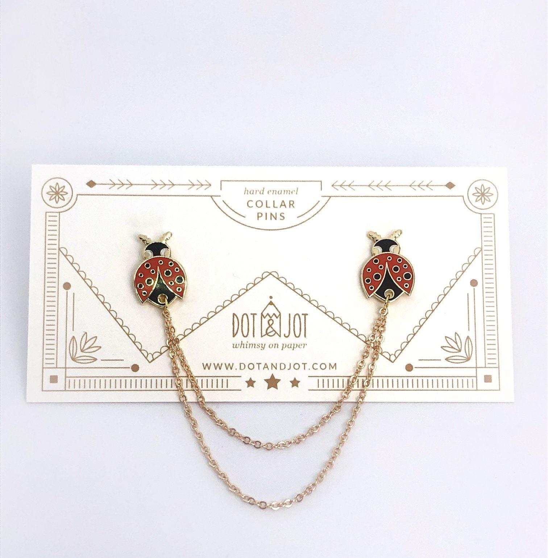 Personalised Birthday Ladybird Unique Metal Pin Badge