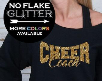 562 Light Grey Bella Designs Activewear Cheer Mom Sweatshirt Glitter Raw Edge Off Shoulder Blk Vinyl//Red Glitter BD947