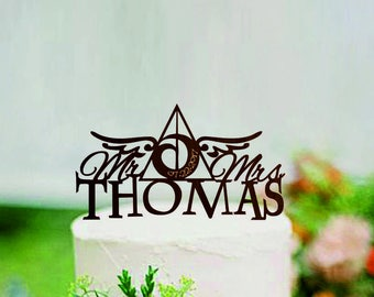 Harry Potter Wedding Cake | Harry Potter Wedding Cake Topper Etsy