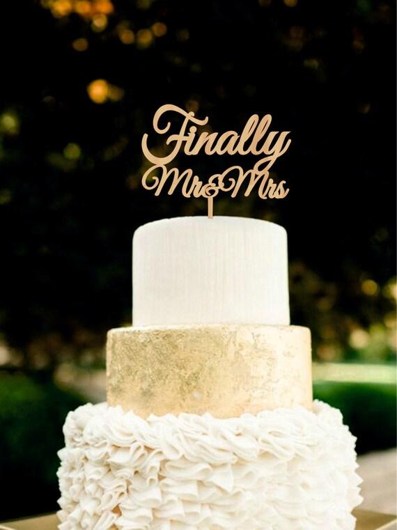 Schliesslich Herr Frau Wedding Cake Topper Holz Cake Topper Etsy