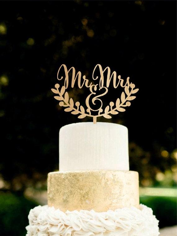 Herr Und Frau Cake Topper Hochzeitstorte Topper Holz Cake Etsy