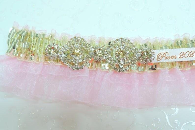 Pink Prom Garters Prom Garters Gold Pink Prom Garter