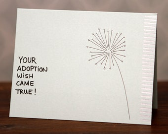 Your Adoption Wish Came True! card - with envelope.