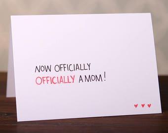 Adopted mom card etsy adoption card officially a mom colourmoves