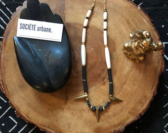 "Spiked ""wakanda style"" Necklace- Boho Statement Necklace-Gifts for her-Boho / Minimalist / Cool Jewelry by Societe Urbane™"