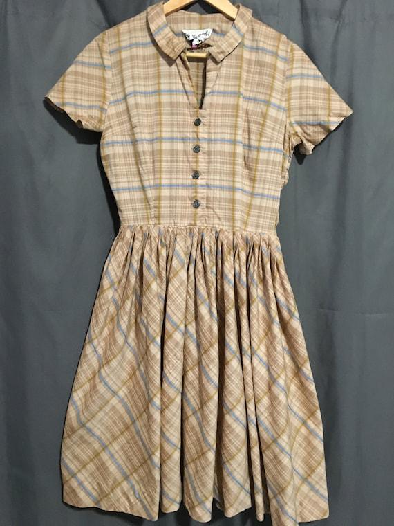VINTAGE 1950s BOBBIE BROOKS Day Dress