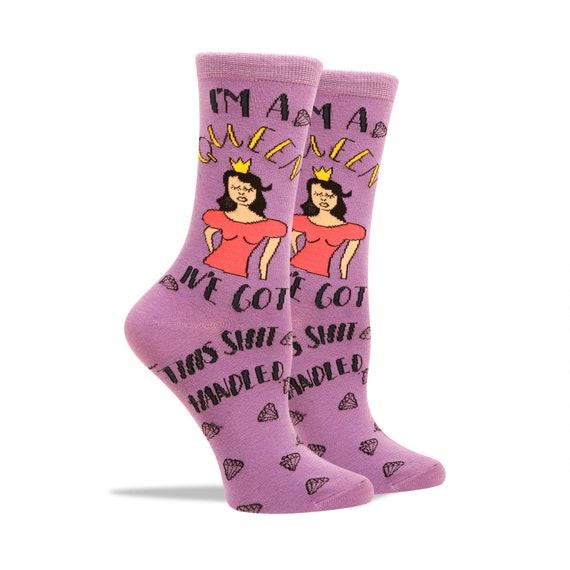 Je suis une reine chaussettes pour femmes  Chaussettes de | Etsy