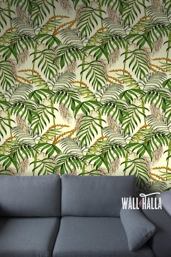 Seamless Self Adhesive Palm Tree Pattern Wallpaper Removable