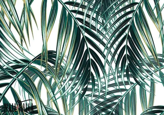 Seamless Self Adhesive Palm Leaves Pattern Wallpaper