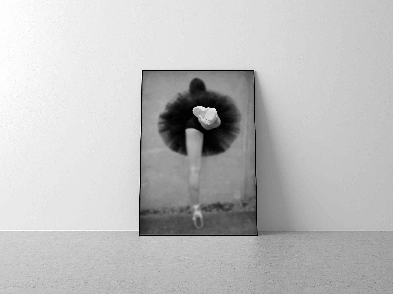 Ballet print ballerina art print black and white photography dancer art print blurred picture dancing wall print ballet poster tutu