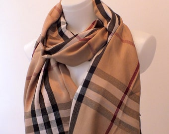 9b8be3e54e Unisex Beige Trend scarf Pashmina Oversize Scarf Cool gift for Men fashion  Accessories for Women Gift for Women Burberry Scarf Gift ideas