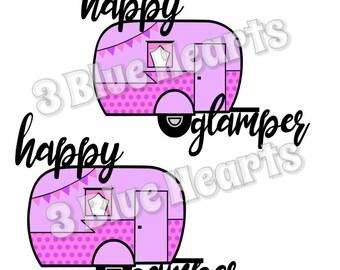 Happy Glamper Svg Dxf Pdf Studio Jpg Png Camper