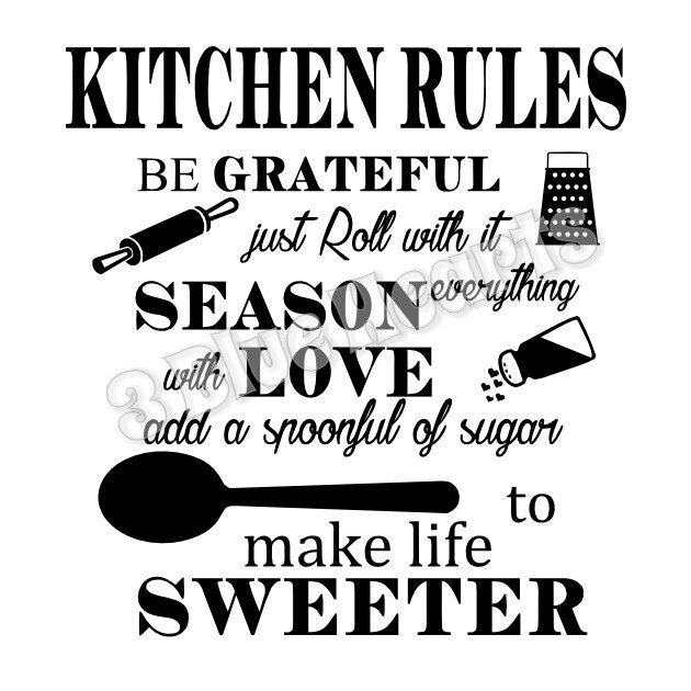 Pot Holder Svg: Kitchen Rules SVG Dxf Pdf Studio, Cutting Board SVG Dxf