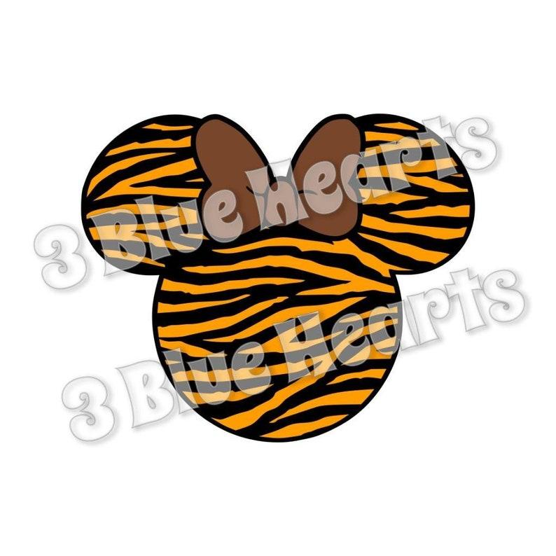 Tiger Minnie Head SVG dxf Studio pdf jpg png
