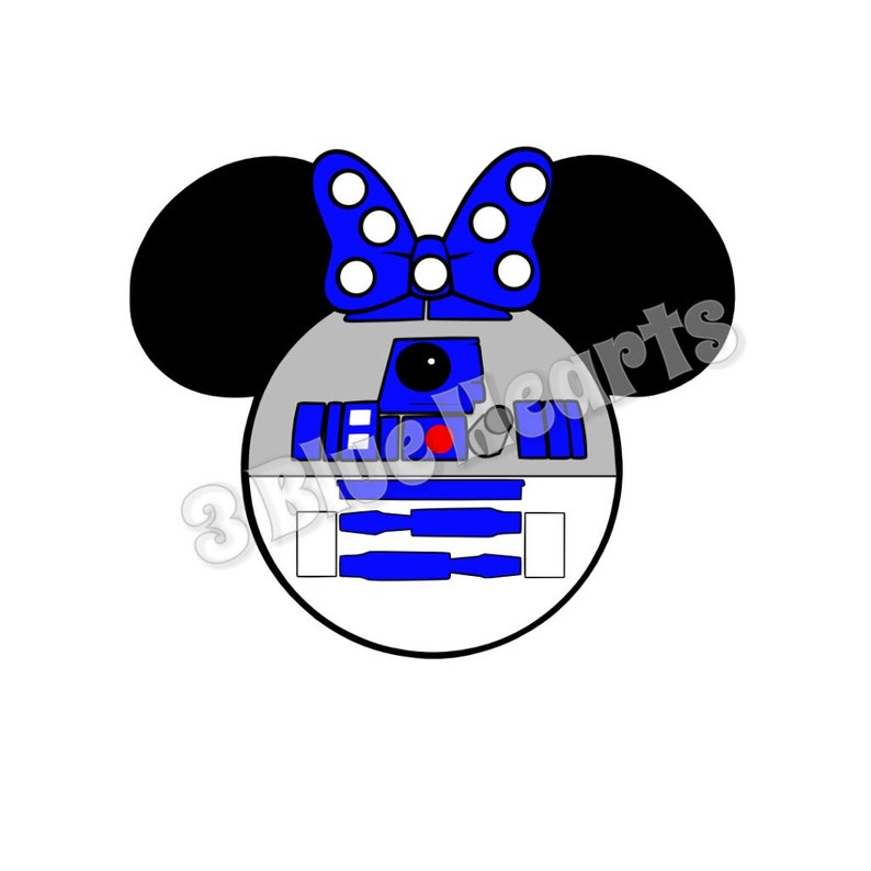 R2D2 with Bow Star Wars Mickey Head SVG dxf pdf Studio, Star Wars Mickey  Head SVG dxf pdf Studio, Disney SVG dxf pdf Studio, R2D2, Star Wars