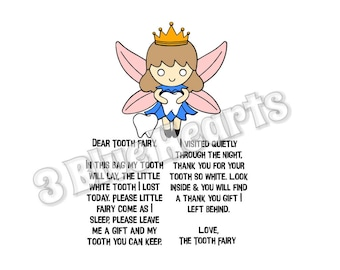 Tooth Fairy Bag Fairy and Sayings SVG Studio dxf pdf jpg