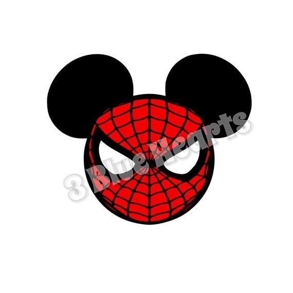 spiderman mickey head spiderman svg dxf pdf studio disney etsy