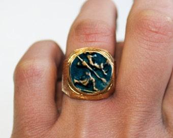 Greek Soldier-Gold  Coin Rings, 22K Gold Men Ring, 22K Women Ring, Gold Jewelry, Men Gifts, Women Rings