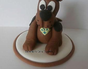 Scooby Doo Birthday Cake Topper Christening Sugar Paste Fondant Edible Decoration Boy Girl Childrens Child Dog Puppyanimal