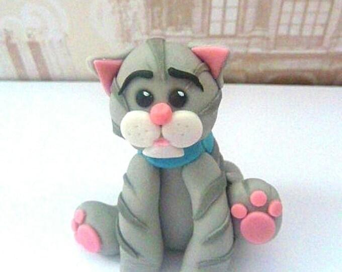 Prime Cat Cake Toppers Fondant Cats Birthday Cake Cat Cake Etsy Personalised Birthday Cards Epsylily Jamesorg