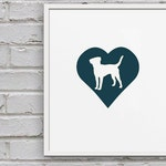 Labrador Retriever Cameo Art Print - Dog Fine Art Print for Nursery, Office, Home Decor
