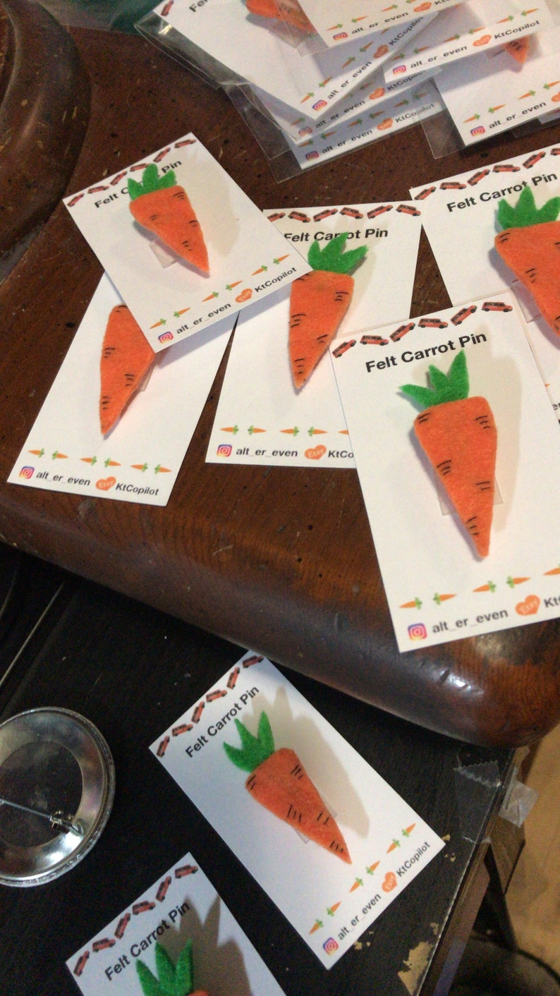 6920e1f8 SKAM inspired Felt Carrot Pins Handmade DIY Alt Er Love | Etsy