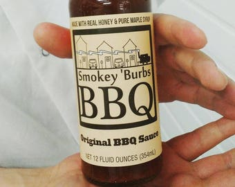 Smokey 'Burbs BBQ: Original BBQ Sauce // Gifts for Cooks // Gifts for Him // Gifts for Dad // Stocking Stuffers