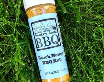 Smokey 'Burbs BBQ: Beach House BBQ Rub // Gifts for Cooks // Gifts for Him // Gifts for Dad // Stocking Stuffers