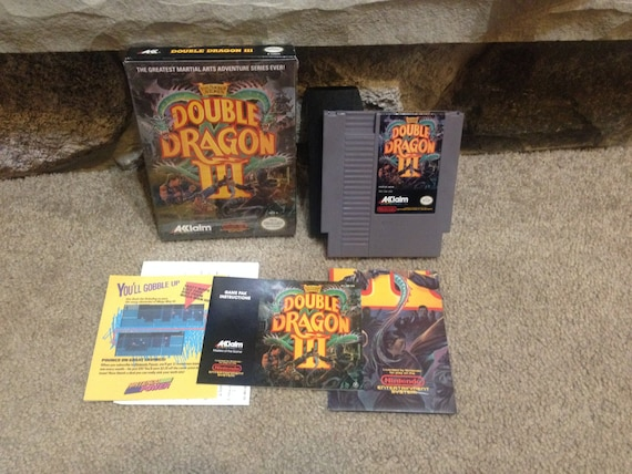 Double Dragon 3 Iii The Sacred Stones Complete In Box Nintendo Etsy