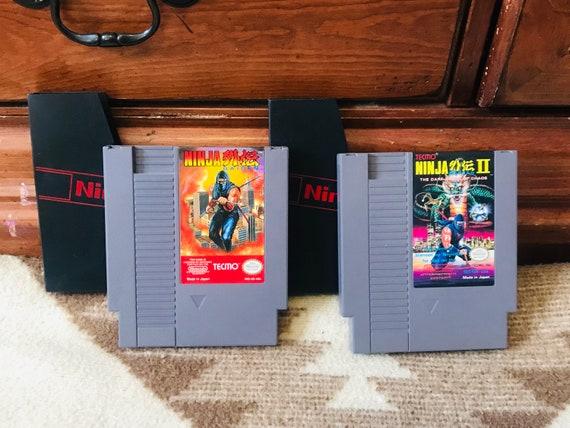 Ninja Gaiden 1 2 Nintendo Nes Game Authentic Original Etsy