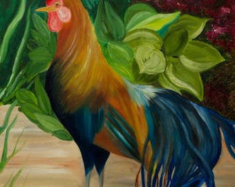 Rooster In a farm