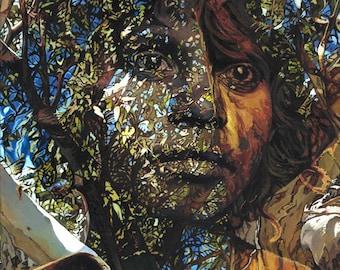 Belong, The Land Remembers - Ltd Ed. Giclée Art Print on Canvas by Jane Nicol
