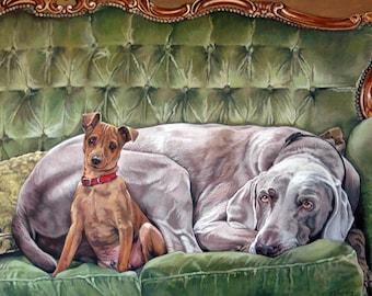 Hugo & Henry - Ltd Ed. Giclée Art Print on Canvas by Jane Nicol
