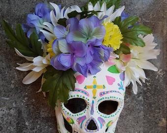 Bohemian Sugar Skull Mask
