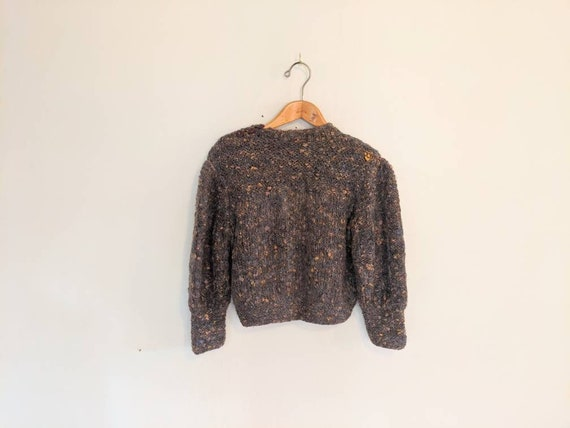 70s Vintage Hand-knit Chunky Sweater - Earthy Wool