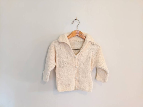 Sweater 70s Vintage Cropped Cardigan Sweater - Han